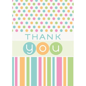 Pastel Dots Baby Shower Thank You Notes