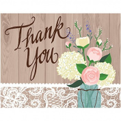 Rustic Wedding Foldover Thank You Cards 8 Per Pack