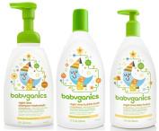 Babyganics Night Time Orange Blossom Set - Bubble Bath, Shampoo & Body Wash and Lotion