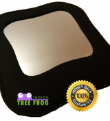 Back Seat Mirror by Indigo Tree Frog - Now with free drawstring storage pouch - Featuring the most stylish rear facing mirror to enable you to see your baby while you drive - Latest high quality canvas design - Versatile & strong staps that attach styl ..
