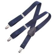 Clips N Grips Child Baby Toddler Kid Adjustable Elastic Suspenders Y Back Design, Navy Blue, 60cm