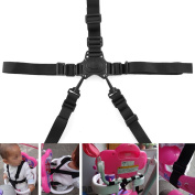 {Factory Direct Sale} Convenient 5-Point Harness Baby Chair Stroller Pram Buggy Safe Belt Strap for Children Kid Randomly