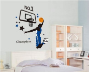 Kappier Giant Jumping Basketball Superstar - I Am a Champion Peel & Stick Wall Decals