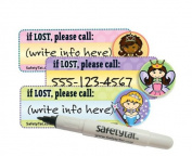 SafetyTat Child ID Safety Tattoo - Princess 6 Pack