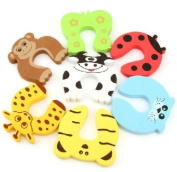 JoyBaby® 7 PCS Children Safety Finger Pinch Cartoon Animal Foam Door Stopper Cushion - Bundled Carton Monster Baby Child Kid Animal Cushiony Finger Hand Safety Door Stop Guard Set