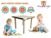 Premium Baby Proofing Corner Guards by Bow-Tiger - Extra 3M Tape, Non-Toxic 16 Corner Bumpers, Extra Dense furniture corner protectors for complete impact absorbance, Keep Your child Safe and Sound!