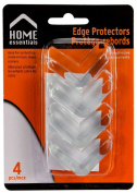 Home Essentials Self Adhesive Clear Table Edge Guard/Protector 4pcs