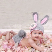 Lowpricenice(TM) Mini Cute Rabbit Knit Crochet Clothes Photo Prop Outfits for Newborn Baby Girls Boy