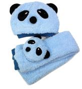 ACEFAST Children Hat 100% Wool Hat+Scarf Two Piece Set Panda Children Animal Cap