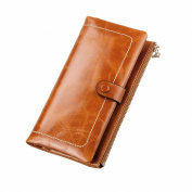 Kattee Women's Fashion Real Leather Zipper Wallet Card bag Coin Case