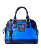 Recycled Eco-friendly, Satchel Bag Blue and Blue