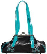 Sourpuss Flying Skate Black & Blue Purse