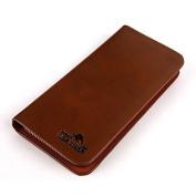 Wallets cute MM Business Men's Long Wallet Pockets ID Card Clutch Cente Bifold Purse BROWN
