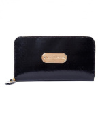 Women's Recycled Zipped Around Wallet Black