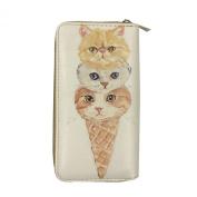 Digital Print (Double Face) Single Zipper Wallet - Kitten