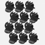 TOOGOO(R) 12 Pcs Black Plastic Mini Hairpin 6 Claws Hair Clip Clamp for Ladies