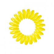 Mi Ti Salon Hair Bobble Traceless Hair Ring And Bracelet - Yellow Invisible Hair Bobble Pack of 3, Pain Free Hair Band, Reduces Split Ends