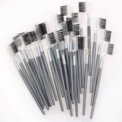 5starwarehouse® 3x Professional Cosmetic Duo Eyebrow & Eyelash Extension Comb & Brush 2 in 1