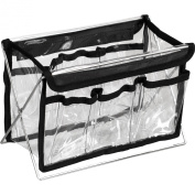 Hiker HK1201BK 28cm . Clear Pvc Bag With Stand