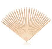 Meta-U 100 Pcs Wood Stick Manicure Cuticle Pushers