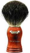 Plissons 955530 Shaving Brush - Size 12 - Bubinga-Wood Handle with Pure Black Bristles