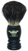 Plissons 5560 Shaving Brush - Size 10 - Long Black Handle with Pure Black Bristles