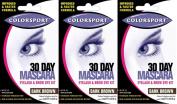 Colorsport 30 Day Mascara Dark Brown x 3 Packs