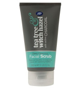 Boots Tea Tree and Witch Hazel Charcoal Facial Face Scrub 150ml