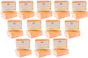 (Pack of 12)Relumins Triple Papaya Kojic Whitening Bar soap