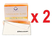 (Pack of 2)Relumins Triple Papaya Kojic Whitening Bar soap