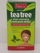 4 x Boxes of Tea Tree Cleansing Nose Pore Strips for Blackheads 4x6 strips