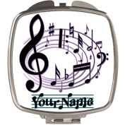 Personalised Musical Notes Compact Mirror