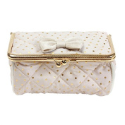 Gigi Accessories Clasp Case / Makeup Bag (Ivory with Gold Spots) by Bombay Duck