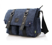 LINSHI TASKS Men's Canvas Shoulder Bag Vintage Messenger Bag