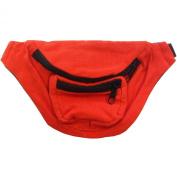 Neon Orange Fanny Pack Bag Bright Rave Club Bum Festival 3 Pocket Adjustable