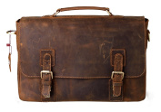Kattee Man Leather Briefcase Messenger Laptop Business Bag