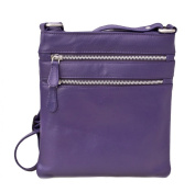Prime Hide Ladies Leather Zip Top Crossbody Bag - 984