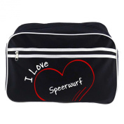 Shoulder Bag Retro Modern I Love Speerwurf Black