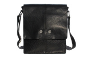 Real Natural Leather Mini Messenger Cross X Body iPad Bag / Man Bag