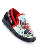 Boys Spiderman City Black/Multi Slippers
