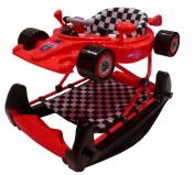 Racing car baby walker / rocker - red