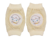 KingWinX Sheep Pattern Elasticity Mesh Cotton Baby Kneepad,Yellow