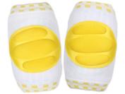 KingWinX Three Stripes Pattern Elasticity Cotton Baby Kneepad,Yellow