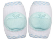 KingWinX Apple Pattern Elasticity Cotton Baby Kneepad,Blue