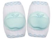 KingWinX Apple Pattern Elasticity Cotton Baby Kneepad,Blue