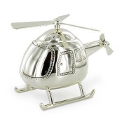 Baby/Christening Gifts-Beautiful Helicopter Money Box Silver Plated Christening Boy Gift