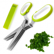 SHENNOSI® 5 Blade Herb Onion Cutting Scissors Kitchen Tool