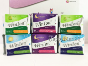 WinIon Anion Sanitary Napkins Pad (Set of 2 Packs of Day, Overnight, Pantiliner) by Winalite Love Moon