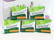 WinIon Anion Sanitary Napkins Pantiliner (5 Packs x 24 Pads) by Winalite Love Moon