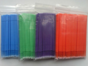 400 Pcs Dental Disposable Micro Applicators Brush 4 Colour Large by Superdental